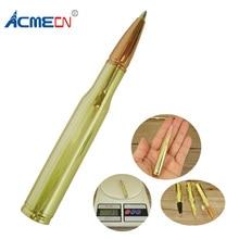 ACMECN Unisex Office & School Supplier Unique Original Design Ball Pen Fancy Creative Gifts Brass Bullet Shaped Ballpoint Pens