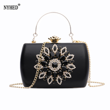 NYHED Evening Bag Women Wedding Clutches Diamond Handbag For Lady Chains Small Pouch