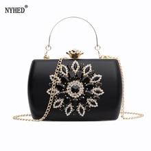 Nyhed bolsa de noite feminina casamento embraiagens diamante bolsa para senhora cadeias pequena bolsa