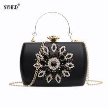 Nyheed sac de soirée pour femmes, pochette de mariage, pochette diamant, chaîne, petite pochette