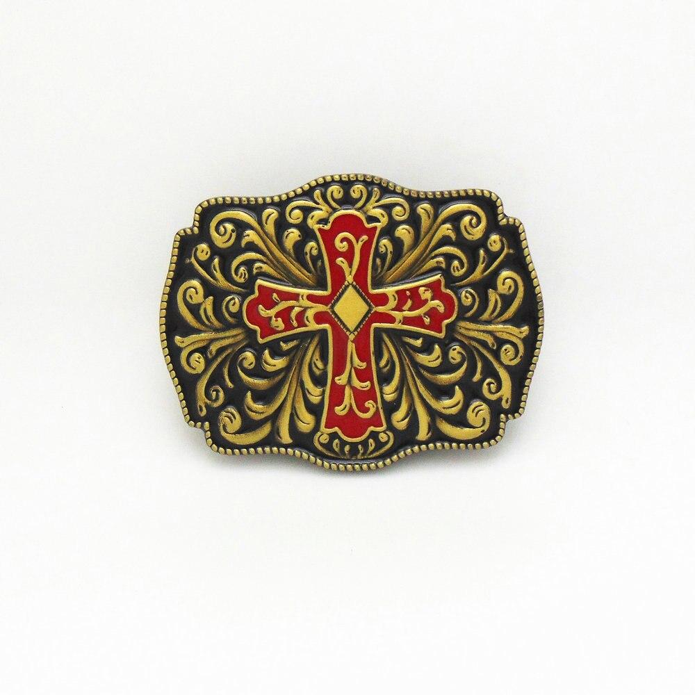 Western Cowboy Celtic Decorative Intricate Cross Belt Buckle