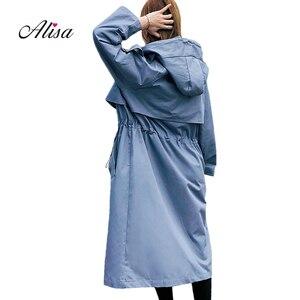 Plus Size Long Coat Women Autu