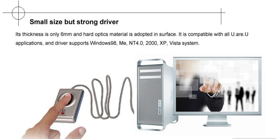 Zk free sdk uru 4000b digital persona usb biometric fingerprint.