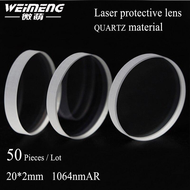 Óculos de Proteção do Laser Máquina de Corte da Lente da Lente do Espelho para a Proteção Weimeng Peças Bolsa 20 * 2mm1064nm ar Janela Dupla-revestido 50 –