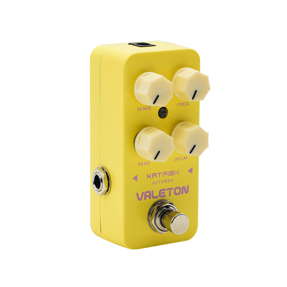 Valeton Katfish Auto Wah Guitar Effects Pedal True Bypass Footswitch Analog Path On Off Status LED