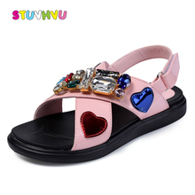 Fashion Sandals for Girls Shoes Princess Leather Sandals Bri