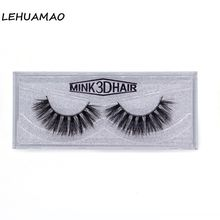 LEHUAMAO 3D Mink Eyelashes Full Strip Lashes Handmade False Eyelashes High Volume Mink Lashes Cruelty Free Reusable Thick Lash все цены