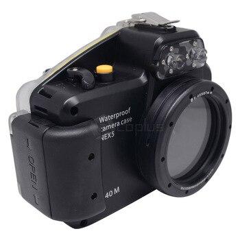 Mcoplus 40m 130ft Waterproof Underwater Diving Housing Bag Case for Sony NEX-5 NEX5 16mm Lens Camera