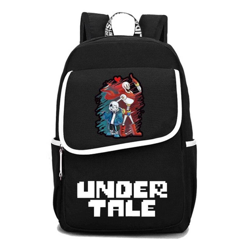 Jeu Undertale voyage sac à dos Sans Papyrus squelette toile sacs d'école grand Bookbag unisexe sac à dos pour ordinateur portable hommes Rugzak 2019 - 3