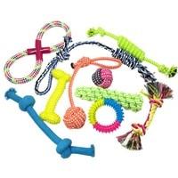 Pet Giocattoli Set Giocattoli Corda di Cotone Fly Pet Frisbee