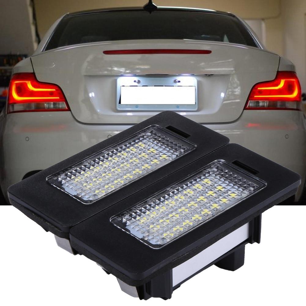 2Pcs Car LED Number License Plate Light 6000K 24Led Error Free Auto Light emitting Diode font