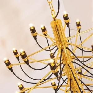 Image 5 - Jmmxiعداد ديكور منزلي حديث مصابيح 18/30/50 ذهبية/فضية جينو سارفيتي تصميم الثريا غرفة الطعام ضوء الغرفة