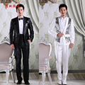 Free Shipping!the New Spring 2015 Men Sequins Suit Men's Cultivate One's Morality Suit Dress Suit Stage Costumes For Men