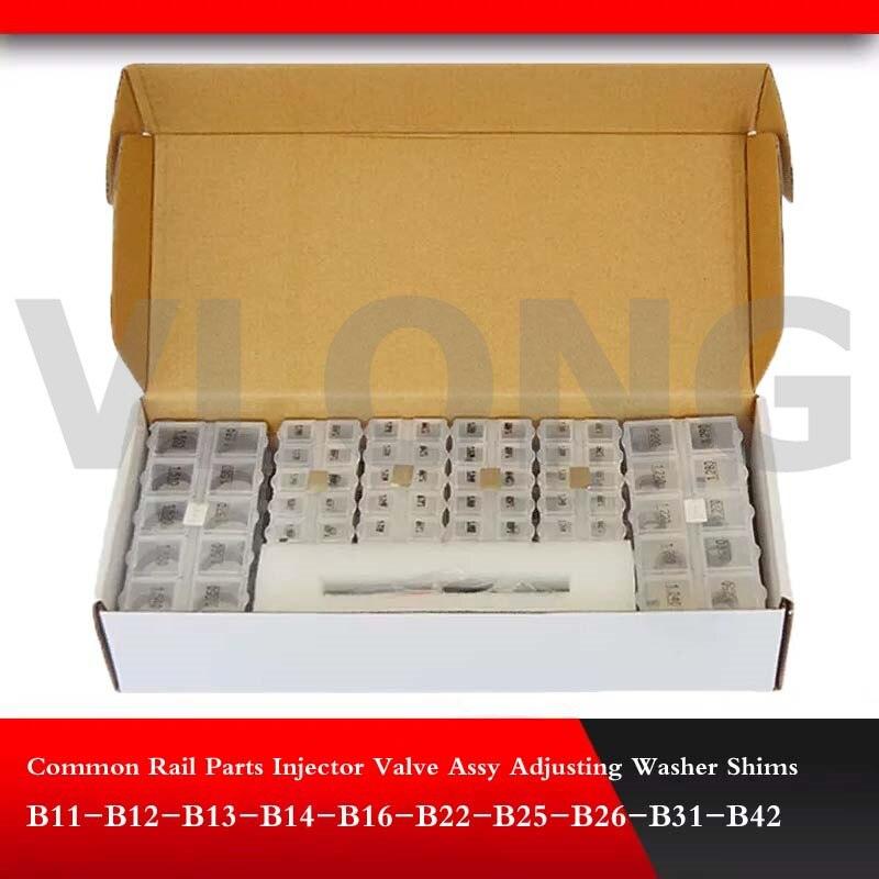 Gemeinsame Schiene Teile Injektor Ventil Assy Anpassung Shim Scheiben B11 B12 B13 B14 B16 B22 B25 B26 B31 B42 1000 teile/los
