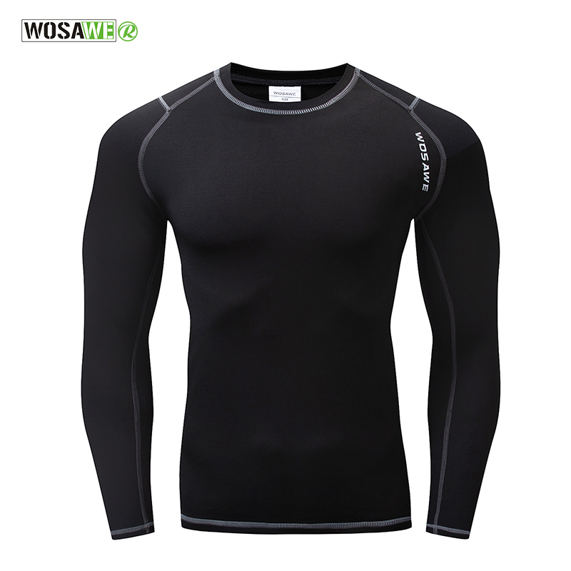 WOSAWE Long Sleeve Cycling Base Layer Winter Warmth Bicycle Running Bodybuilding Bike Clothes Jersey Sports Underwear ClothingWOSAWE Long Sleeve Cycling Base Layer Winter Warmth Bicycle Running Bodybuilding Bike Clothes Jersey Sports Underwear Clothing