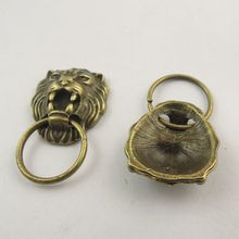 Charms Lion Jewelry Necklace Pendant Vintage-Style Fashion Cute Punk 30x19mm Bronze 38426