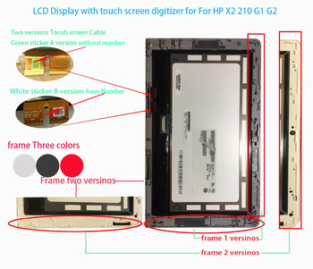100% New For HP Pavilion x2 210 G2 G1 LCD Display Lcd Screen With Digitizer Touch Screen Assembly B101EAN01.8 TV101VNM-NP1 1
