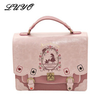 Alice In Wonderland Cute Kawaii Leather Small Backpack For Girls Women Ita Bags Student Schoolbag Mochila Feminina Bagpack Girl