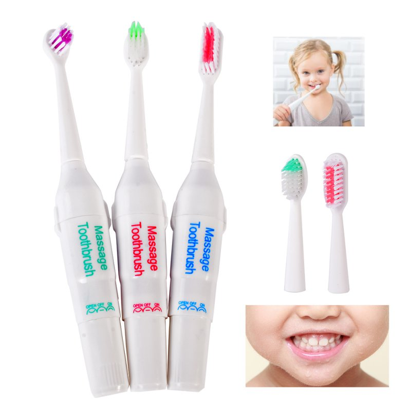 Battery Operated  Electric Toothbrush / Tooth Brush Electronic Toothbrushes For for Children Kids Oral Hygiene  LS4 V2 2pcs philips sonicare replacement e series electric toothbrush head with cap