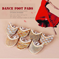 1 Pair Belly Dancing Shoes Dance Accessories Toe Pads Gold Protector Professional Ballet Dance Socks 7 Colour
