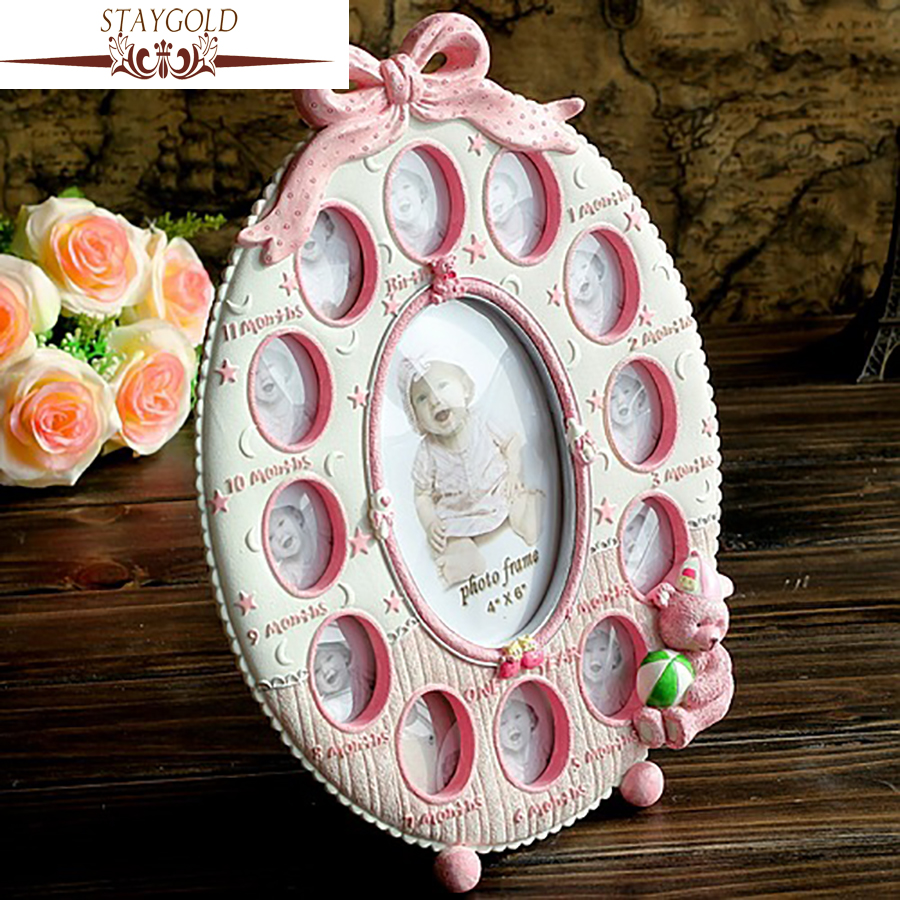 STAYGOLD Pink Home Decor Creative Baby Pink Collage Photo