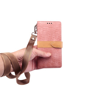 Image 2 - Luxury Crocodile Pattern Leather Case for IPhone XS Max XR XS X 8 7 6 6S Plus 8plus Card Holder Stand Flip Wallet Cover Lanyard