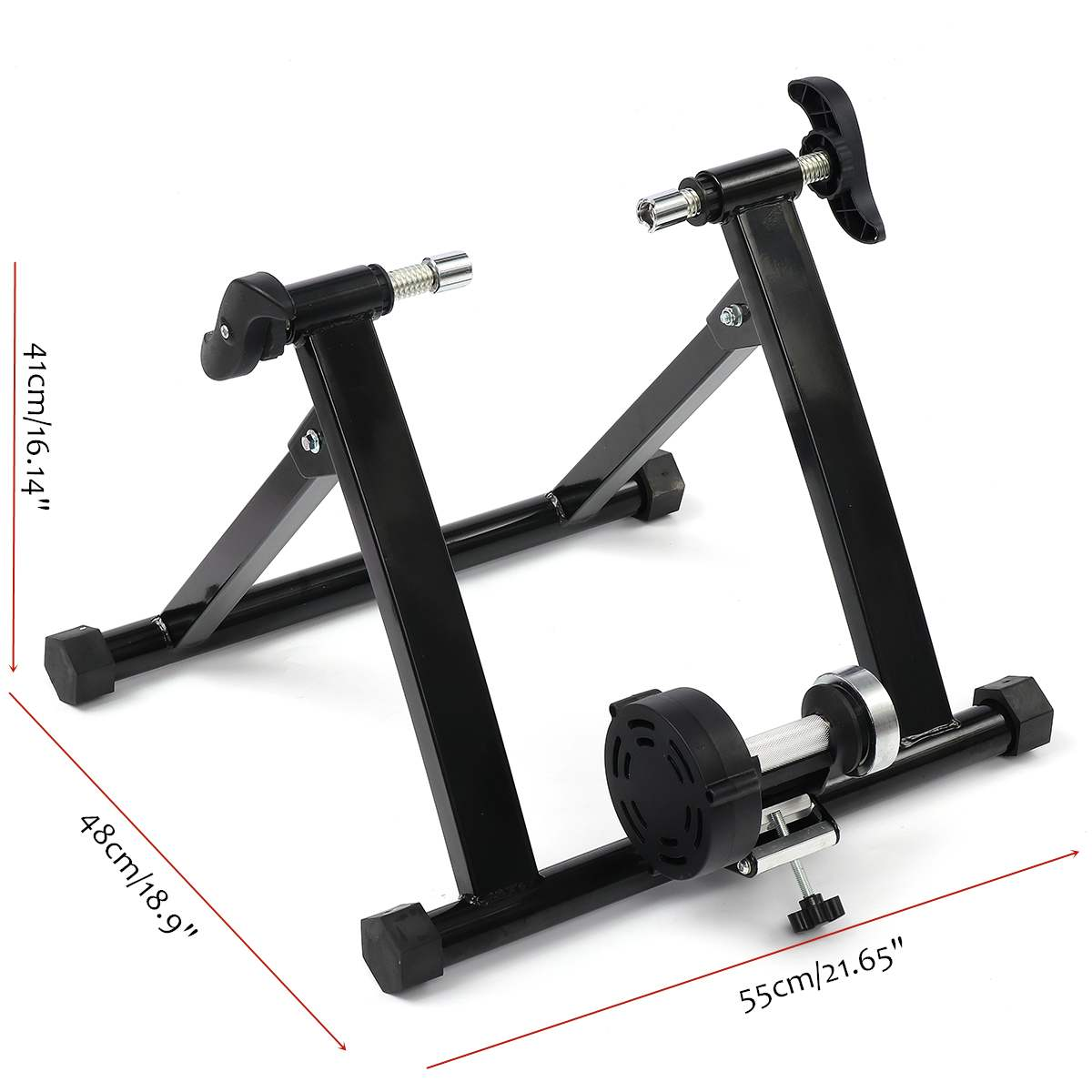 Indoor Bicycle Bike Trainer 4-29 Inch Wireless Black Indoor Bicycle Bike Trainer Exercise Fitness Stand