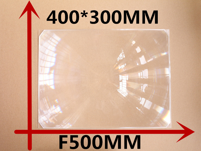 1pcs/lot big size 400*300MM Rectangle DIY projector Fresnel Lens Focal length 500 mm High concentrated lens цена и фото