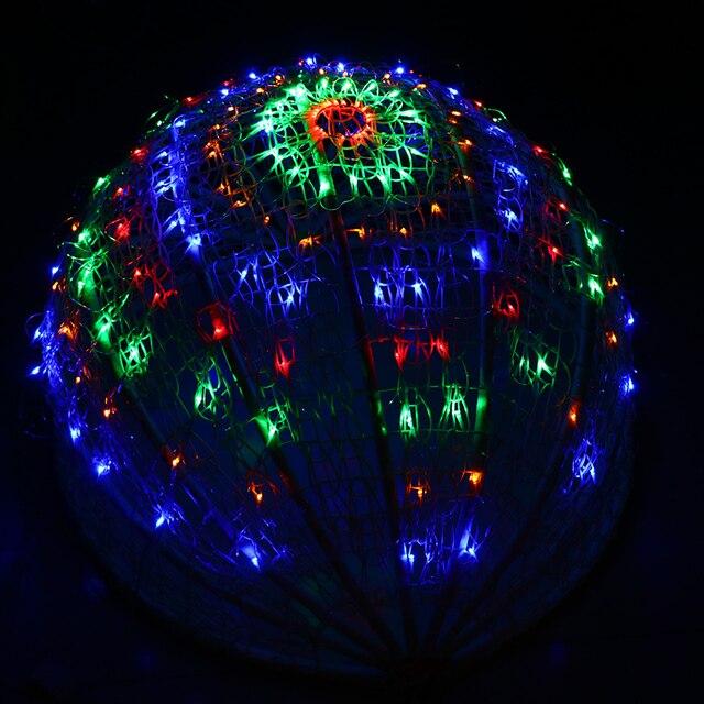 Netto Weihnachtsbeleuchtung.Us 20 23 25 Off Eu Plug 160 Bollen Spinnenweb Led Netto Verlichting Kerst Outdoor Lampen Decoratie Bruiloft Vakantie Verlichting Slingers Led Licht