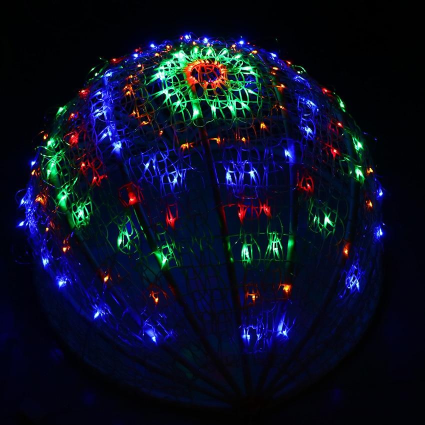 EU Plug 160 Bulbs Spider Web LED Net Lights Christmas
