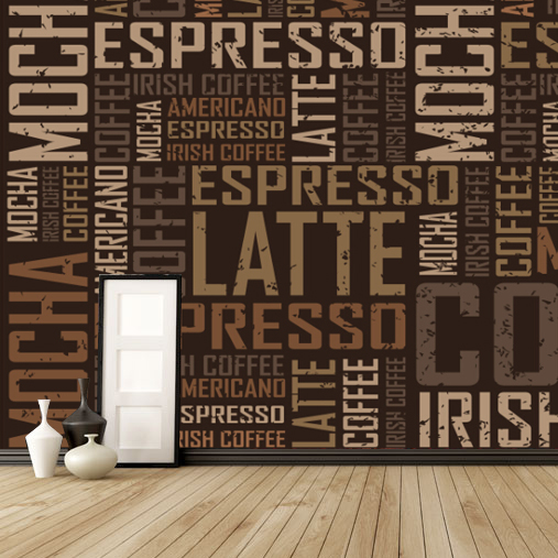 Custom 3d Mural Coffee Wallpaper KTV Lounge Bar Living Room Bedroom Aisle Hotel Hall Background English Letter Wallpaper Mural