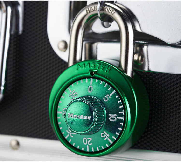 Master Lock Keyed Padlock Password Smart for Lock for a Suitcase Combination Lock for bag Carousel gym locker lock Mini (9)