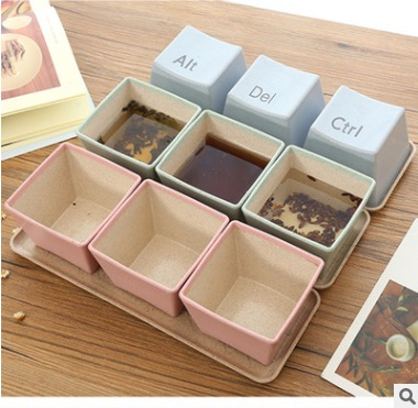 3pcs Pink And Blue Nut Storage Box Tea Set Coffee Cups Sweet Taste Kettle Water Cup
