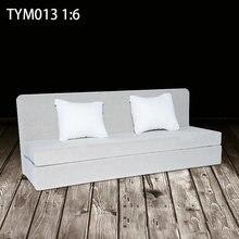 Модная модель дивана в масштабе 1:6 тканевая длинная Игрушечная