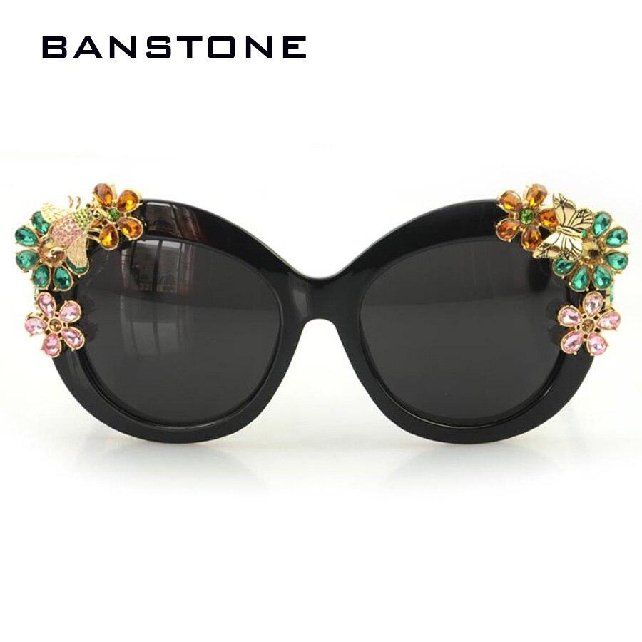 FRIDA New 2016 Brand Luxury Sunglasses Statement Women Jewelry Sun glasses Flower Decoration Vintage Shades Gafas