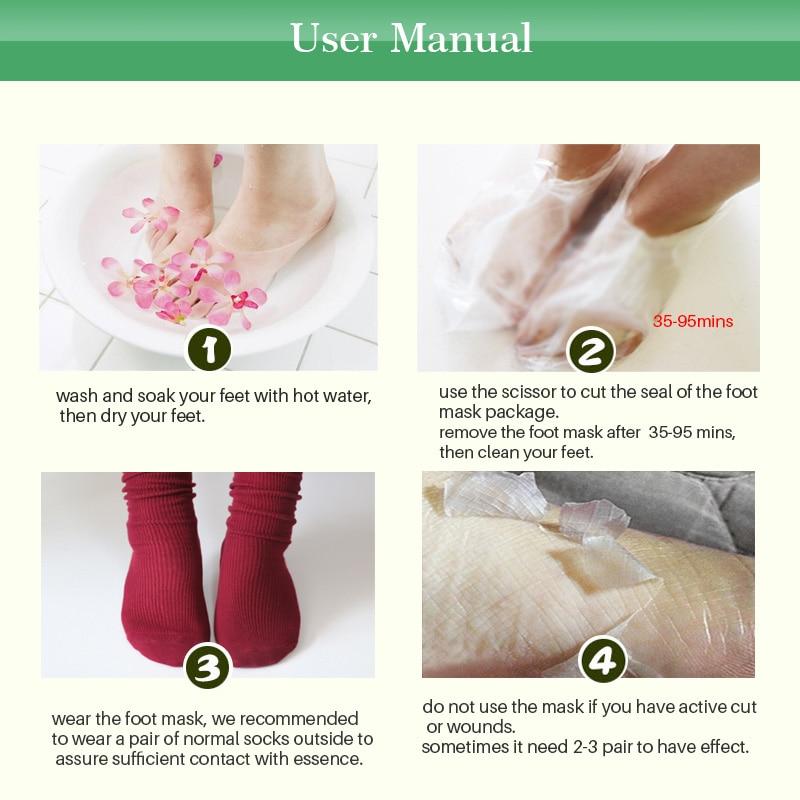 12 st = 6 par Exfoliating Foot Mask Peeling Socks För Pedicure Feet - Hudvård - Foto 5