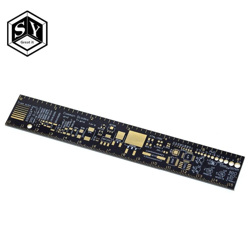 GREAT IT PCB линейка для электронных инженеров для Geeks, создателей для Arduino, вентиляторы, линейка для печатных плат, блоки упаковки PCB v2 - 6