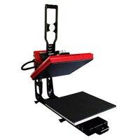 Manual Heat Press Machine Flat Small Drilling Rig Printed T shirt Hot Stamping Machine AP1715 Thermal Transfer Equipment