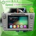 """1024*600 Двойной 2 Din Quad Core 8 """"Android 5.1.1 Автомобильный DVD Gps-навигация Для Тойода Camry 1024*600 HD Головное устройство Стерео"""