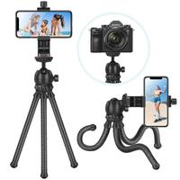 Neewer 12 inches Flexible Tripod with 1/4 inch Screw Mount and Ball Head 360 Degree Rotatable Phone Clip for iPhone Samsung