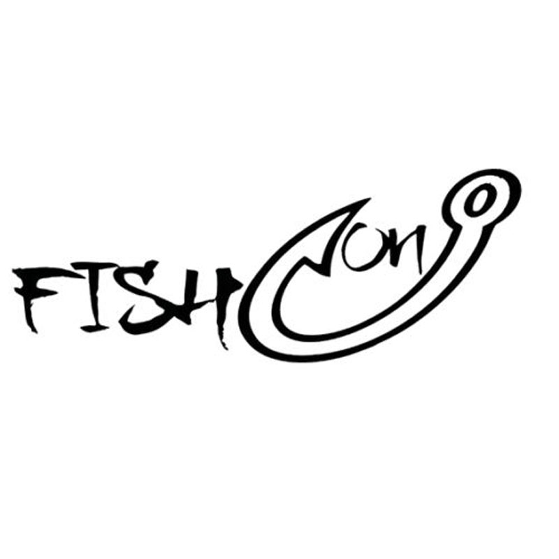 16CMX6.2CM FISH ON Fun Fishing Vinyl Decals Personalized Car Stickers Black/Silver C1-5503