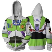 Toy Story Buzz Lightyear 3D Imprimir Hoodies Moletons Cosplay Com Capuz  Casuais Jaqueta Casaco fd0d1ab4734