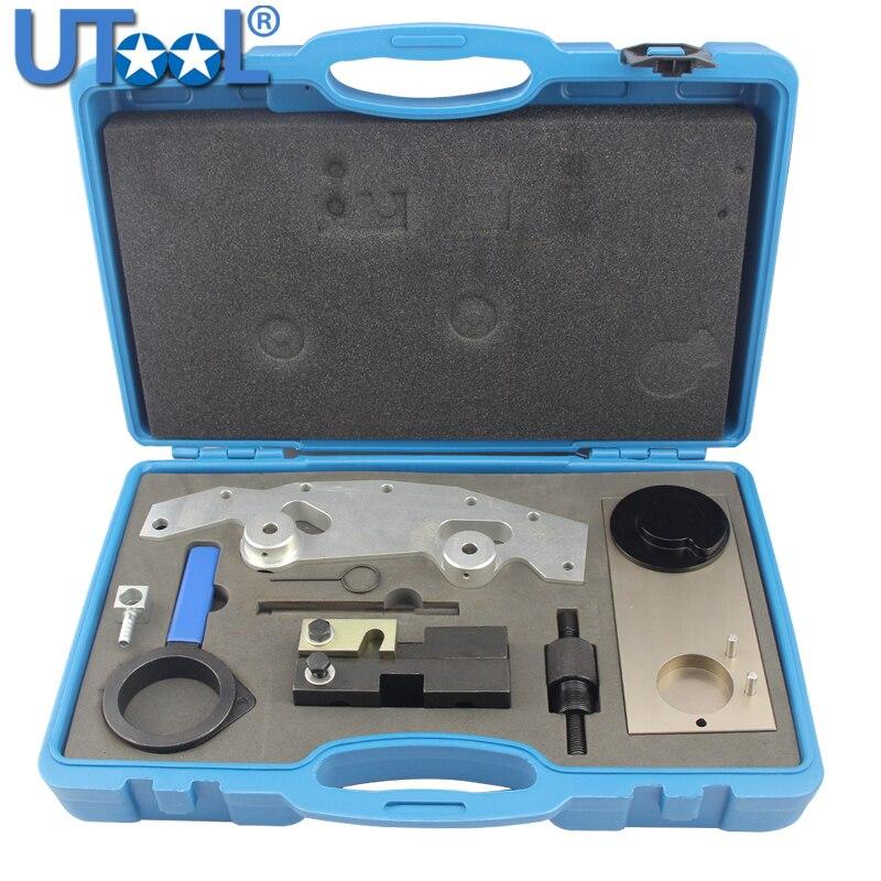 Kit d'outils de distribution de moteur Compatible pour BMW M52 M54 M56 M52TU 6 cylindres simple et Double Vanos