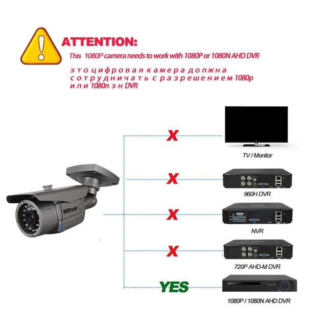 Witrue Sony IMX323 AHD Camera 1080P Video Surveillance Camera 20M Night Vision CCTV Camera Outdoor Waterproof Security Camera