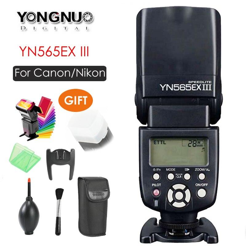 YONGNUO YN-565EX YN565EX III TTL Flash Speedlite pour Nikon D7500 D7200 D7100 D5600 Canon 500D 550D 600D DSLR Caméra
