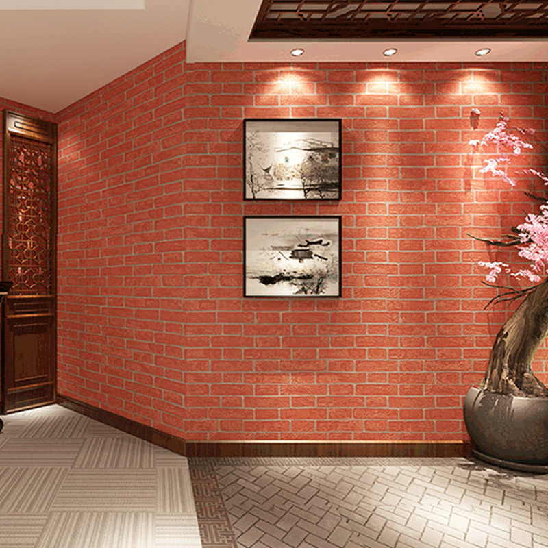 Online get cheap faux wall covering for Cheap brick wallpaper