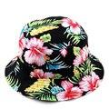 Mujeres de moda exterior sol pesca pescador Floral panamá Cap Bob Chapeau marca de algodón sombrero del cubo del verano hombre de Hip Hop