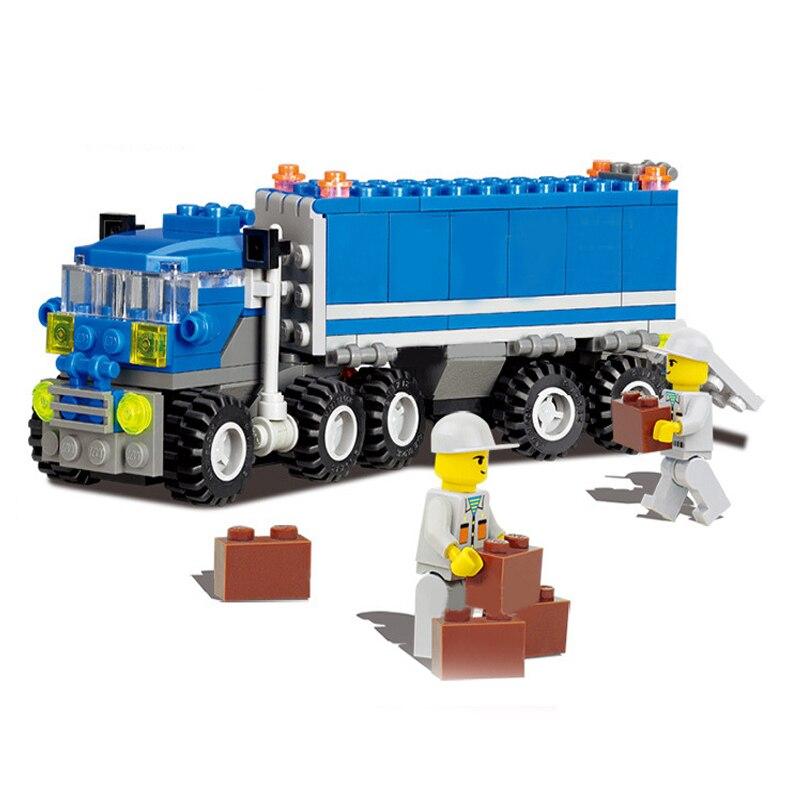 New Transport Lkw Bausteine Sets Transformation Kran Ziegel ...