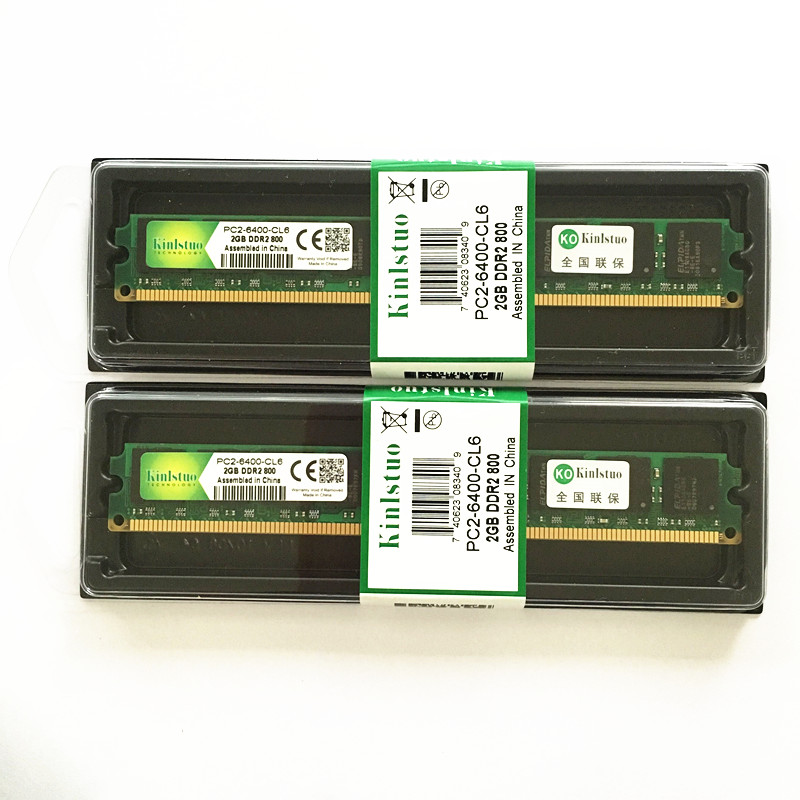 Kinlstuo Brand ddr2 2gb ram 800MHz/667MHz PC 6400/5300 For ALL memory 240pin desktop rams New rams Free shipping