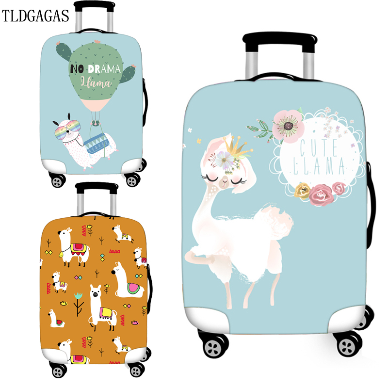 Alpaca Pattern Luggage Cover High Elasticity Case Suitcase Covers Trolley Baggage Dust Protective Case Cover Travel Accessories